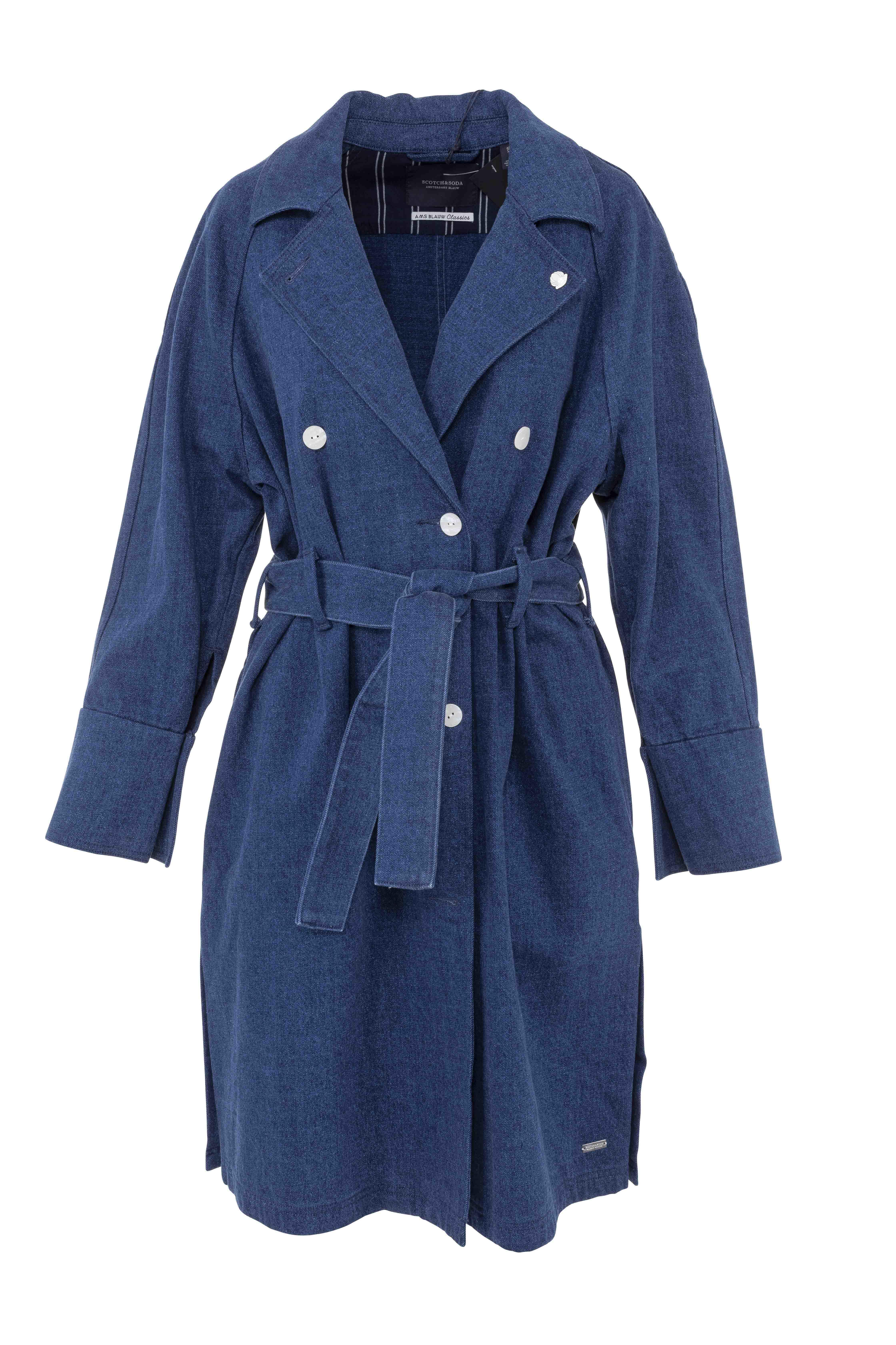 Indigo Trench Coat