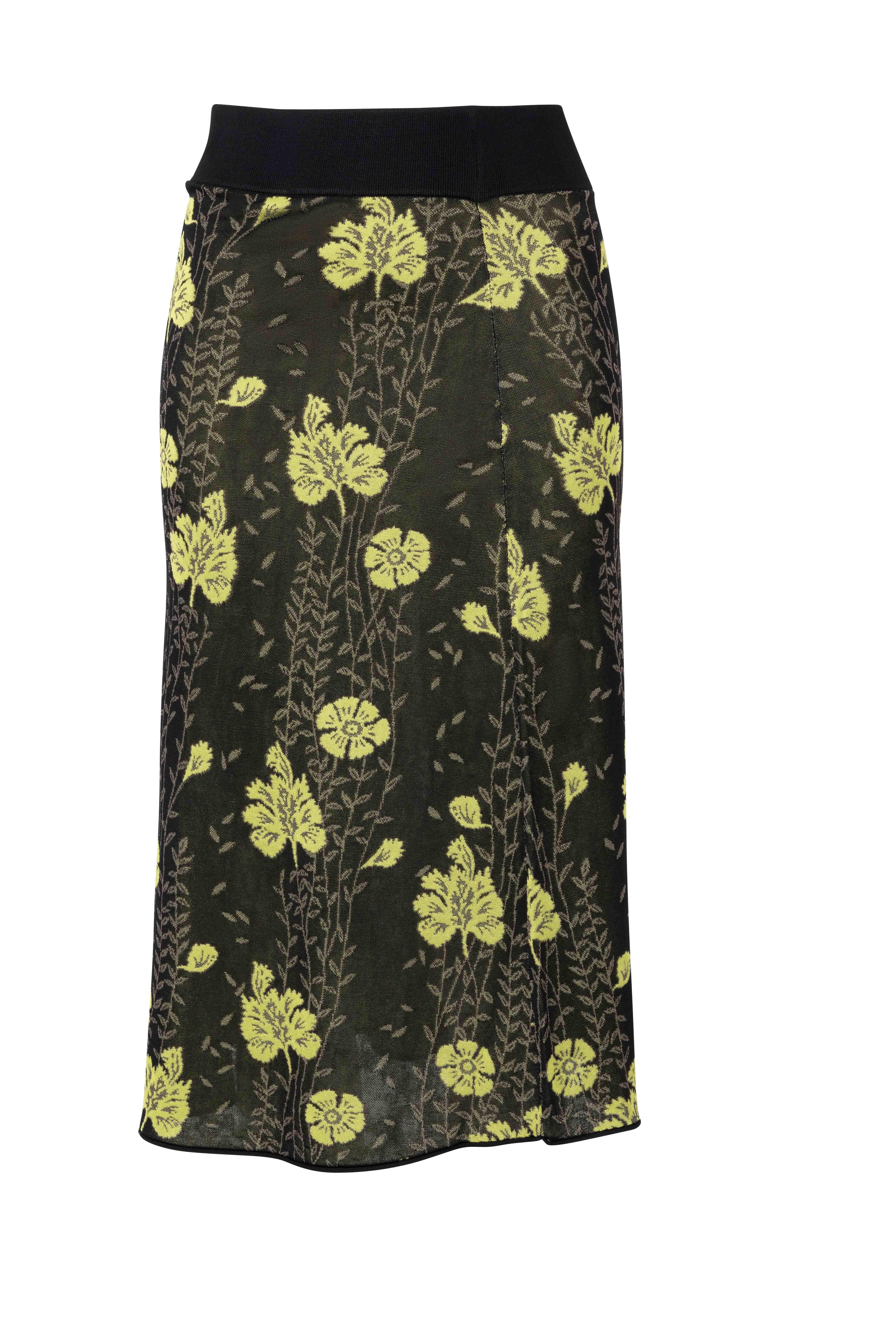 Skirt Floral Jacquard