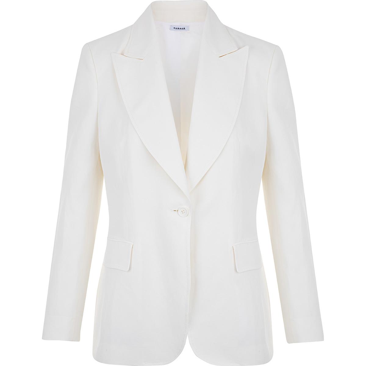 giacca viscosa lino
